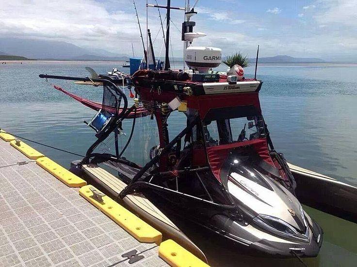 74 best boats images on pinterest fishing fishing boats for Fishing jet ski