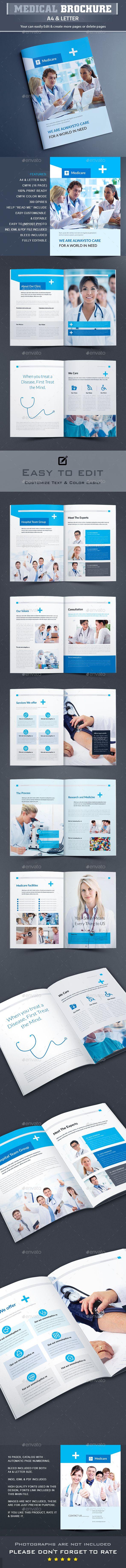 Medical Brochure Template  - Brochures Print Templates