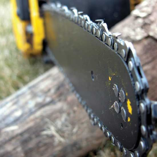 Learn how to sharpen a chainsaw chain and save money while getting the most out of your machines—and it helps keep you safe.data-pin-do=