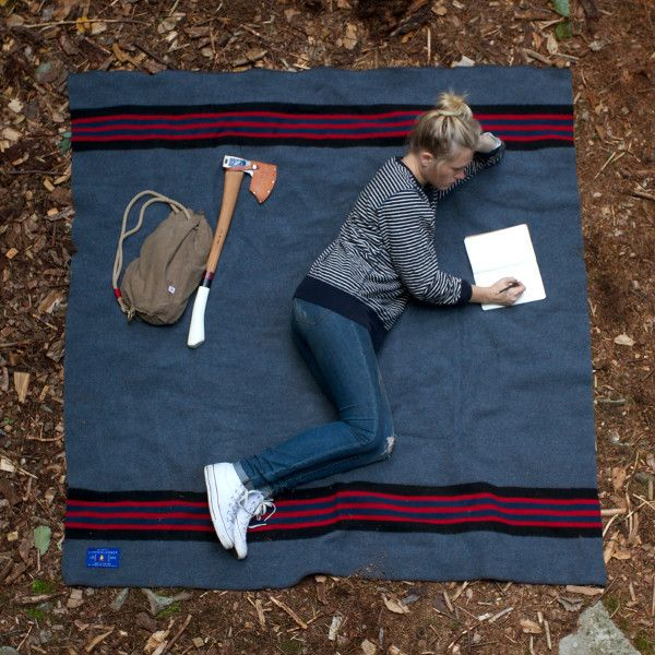 Best Made Company — Lumberlander Camp Blanket - oh yeah, check me out with my hatchet