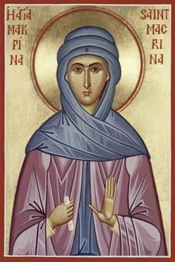 St. Macrina the Younger pray for us.  Feast day July 19.