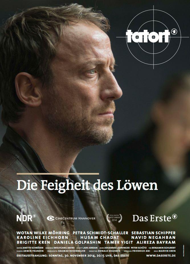 Tatort mit Wotan Wilke Möhring: Die Feigheit des Löwen: 30.11.2014 / 20:15 Uhr / ARD