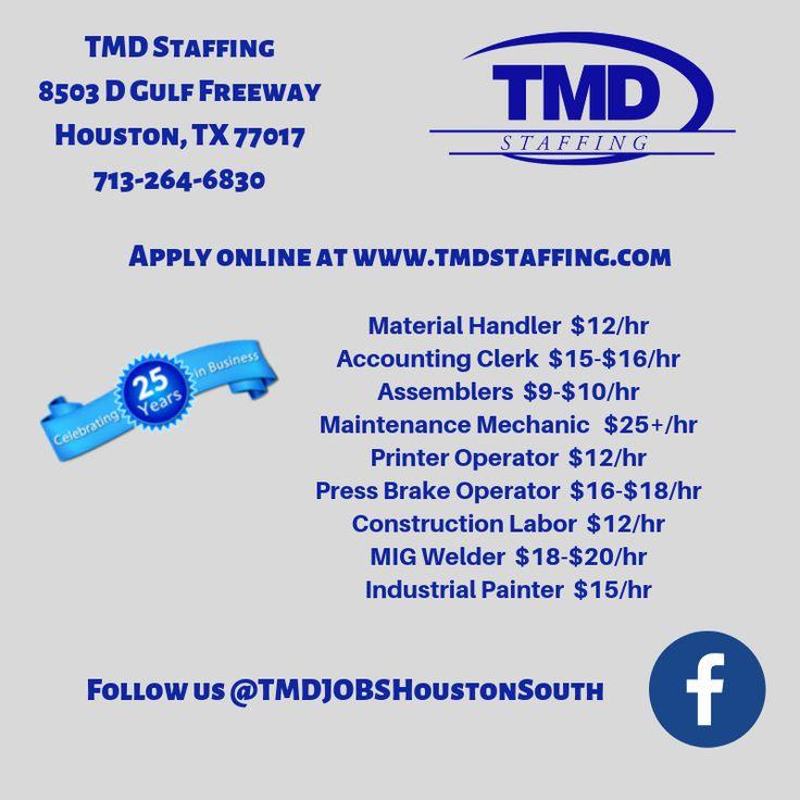 Houston, TX Jobs Jobs in houston, Tuesday motivation, Job