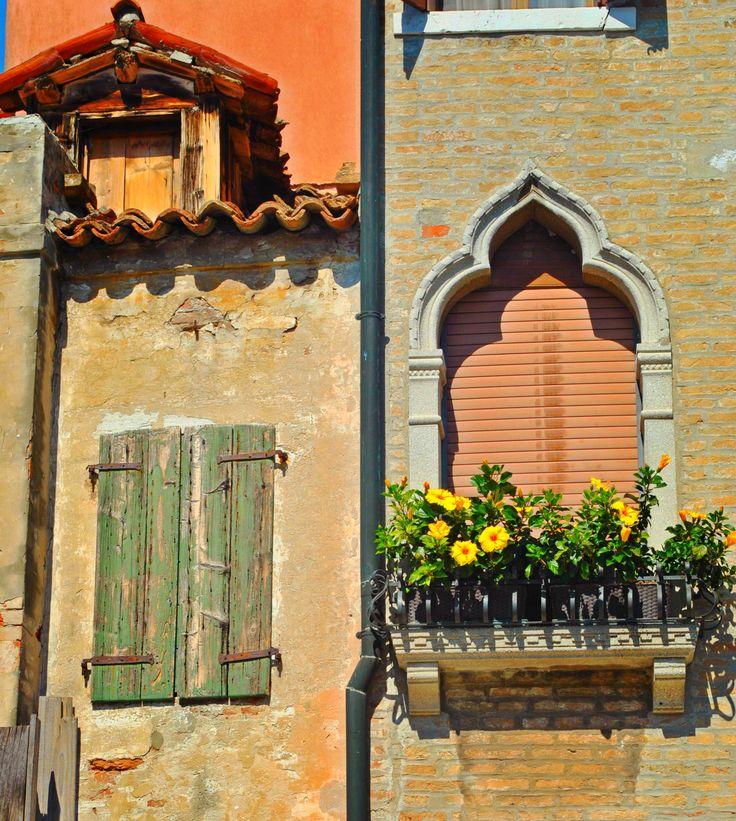 Beautiful Moorish window, Burano