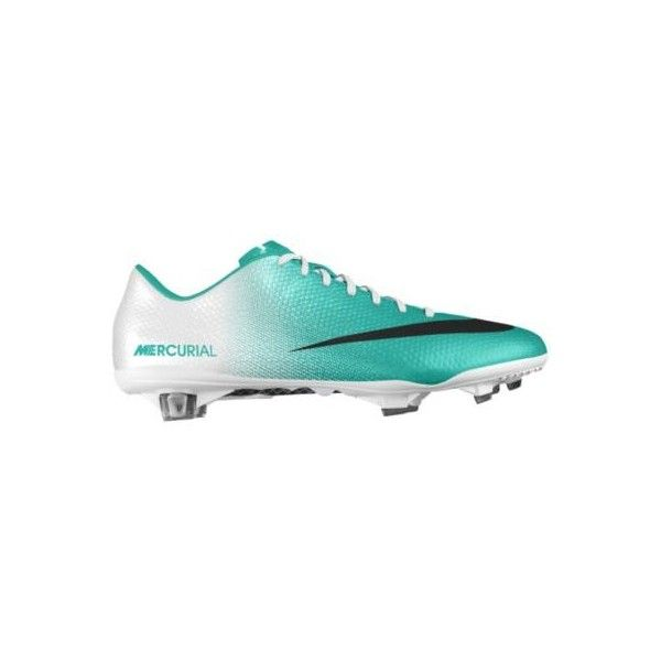 Nike Mercurial Vapor IX FG iD Custom Women's Soccer Cleats - Green, 10 ($265) ❤ liked on Polyvore