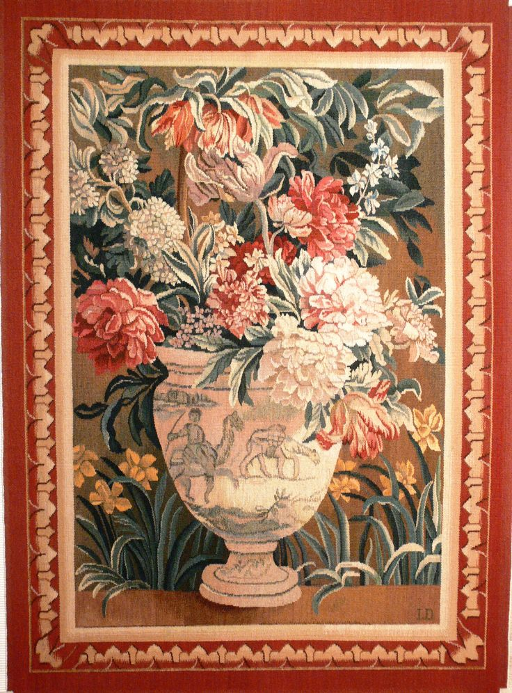 ''Ваза''-фрагмент французской шпалеры 17 века  ''Дети-садовники''.Из коллекции Эрмитажа.105 х 150 см.2009г.