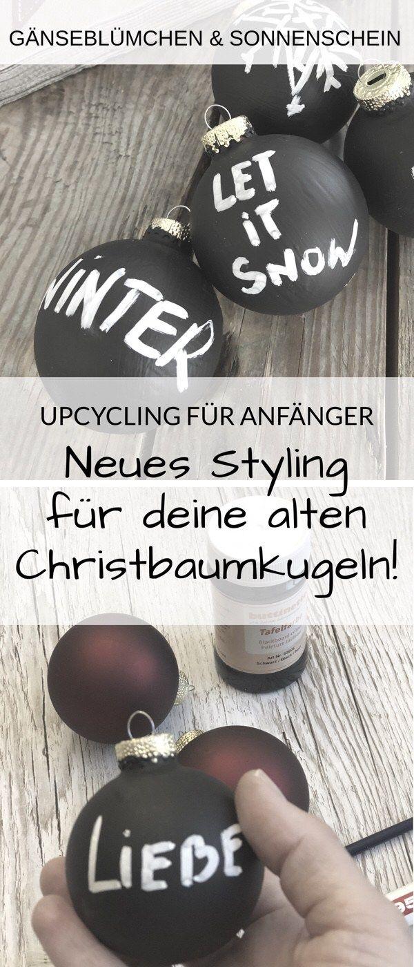 Stylische Statement- Weihnachstkugeln selber machen – cool und günstig | Christbaumkugel DIY | Upcycling | Weihnachtsschmuck #weihnachten #christmasdecor