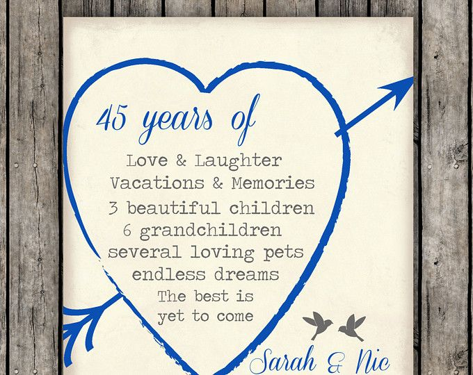 Gifts For 45th Wedding Anniversary: 25+ Best Anniversary Gifts For Parents Ideas On Pinterest