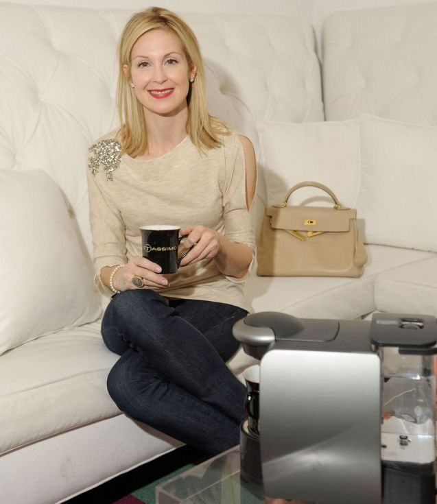 Kelly Rutherford with Anil Arjandas Jewels