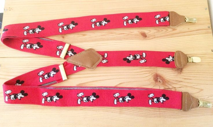 Topic, very Vintage mickey mouse suspenders was