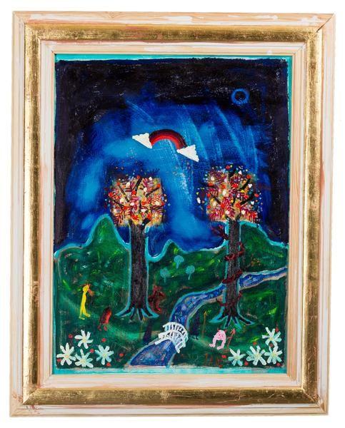 """Ian Rusth - """"Drömlandskap"""" finns att köpa hos oss på Galleri Melefors / is available for purchase at Galleri Melefors #ianrusth #rusth #art #oilpainting #painting #interiordesign #design #colors #dreams #fantasy #landscape #forsale #konst #oljemålning #målning #tavla #interiör #färger #dröm #landskap #fantasi #tillsalu #gallerimelefors #melefors"""