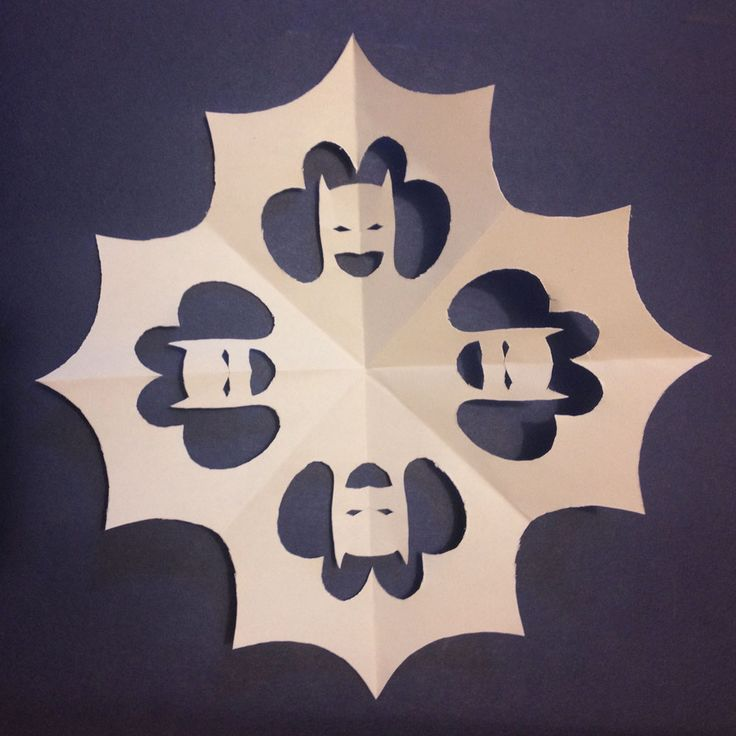 Batman Snowflakes!! How to make superhero snowflakes!