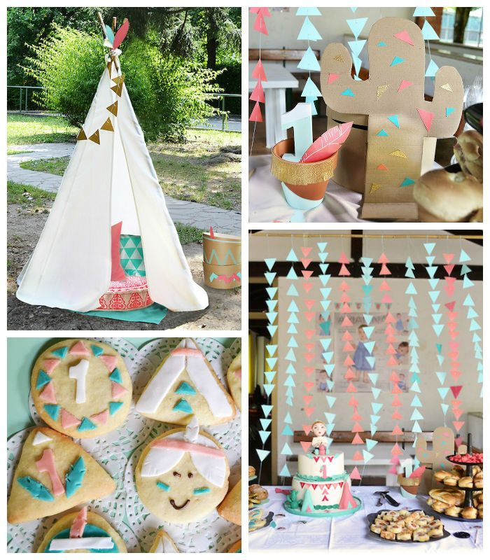 Little Indians Themed Birthday Party via Kara's Party Ideas