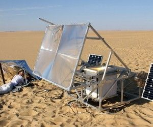 Testing with a solar-powered 3D printer.