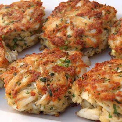 Crab Cakes @keyingredient #quick I made these into mini crab cakes for New Years Eve.  They were a hugh hit!  The tarter sauce is the best ever...