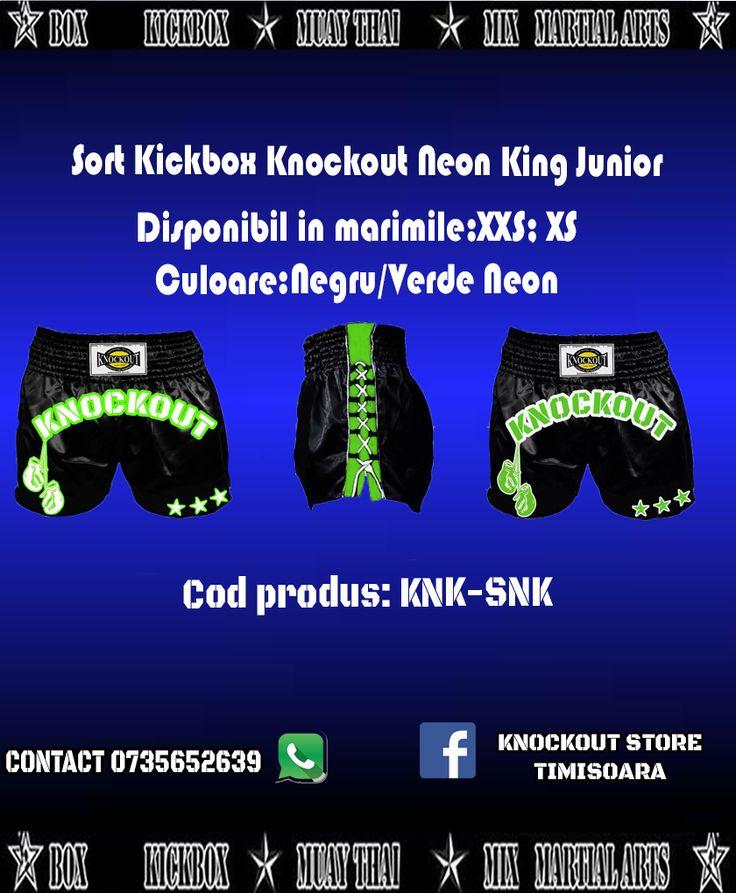 Sort Kickbox Neon King Junior!