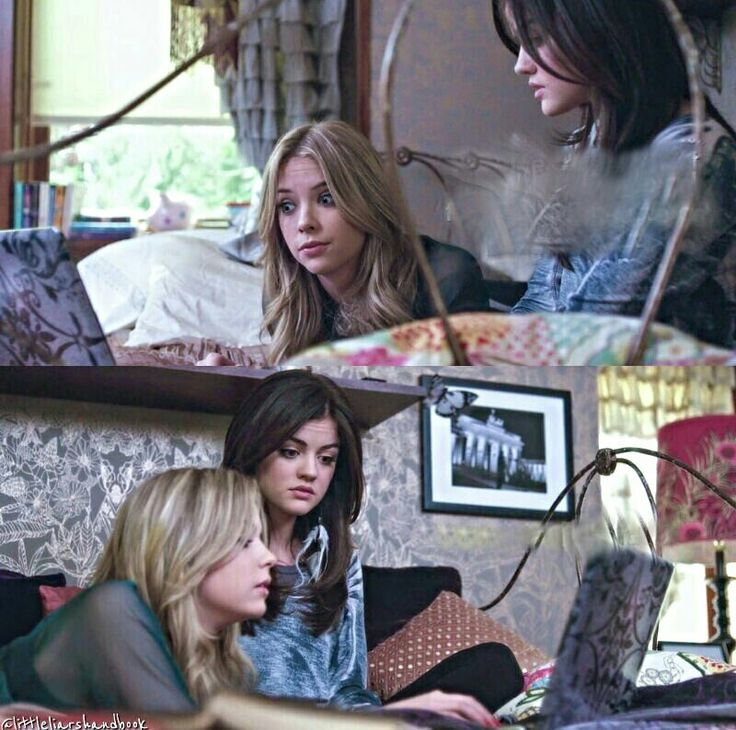 Aria Montgomery and Hanna Marin Aria Montgomery's room pll 1x20