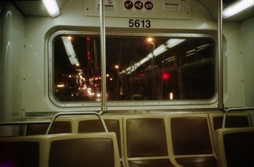 Empty train rides were my favorite thing to do when I was upset or angry I don&#…