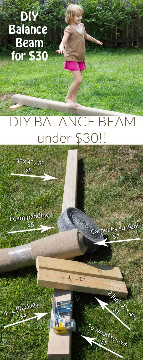 This DIY Balance Beam is so easy to make for the little gymnast in your life. And it's under $30! - My Little Me