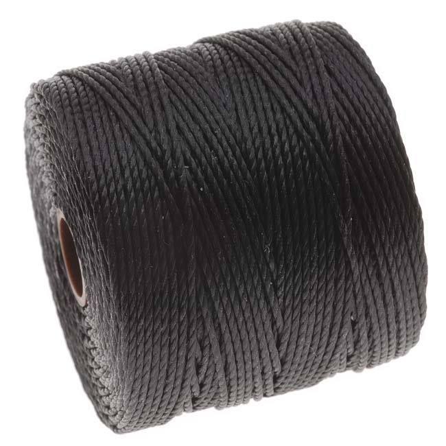White  77 Yard Spool BeadSmith Super-Lon Cord Size #18 Twisted Nylon