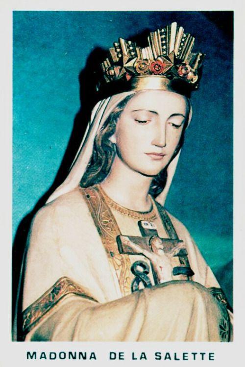 Madonna de la SaletteAn Italian holy card of Our Lady of La Salette.