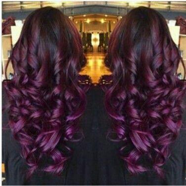 Gorgeous plum curls