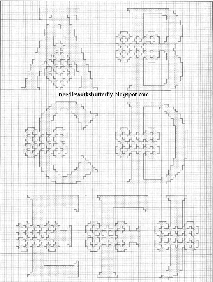 Celtic Alphabet...whole alphabet is here...would make great name pieces...