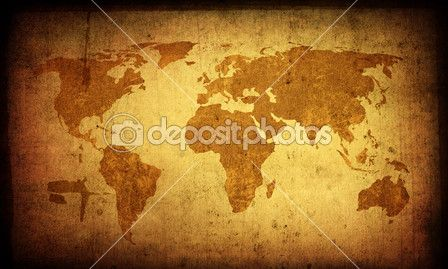 World map vintage artwork — Stock Image #4670096