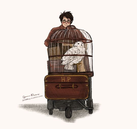 little Harry off to Hogwarts by jpaddey. Pinned by @lilyriverside
