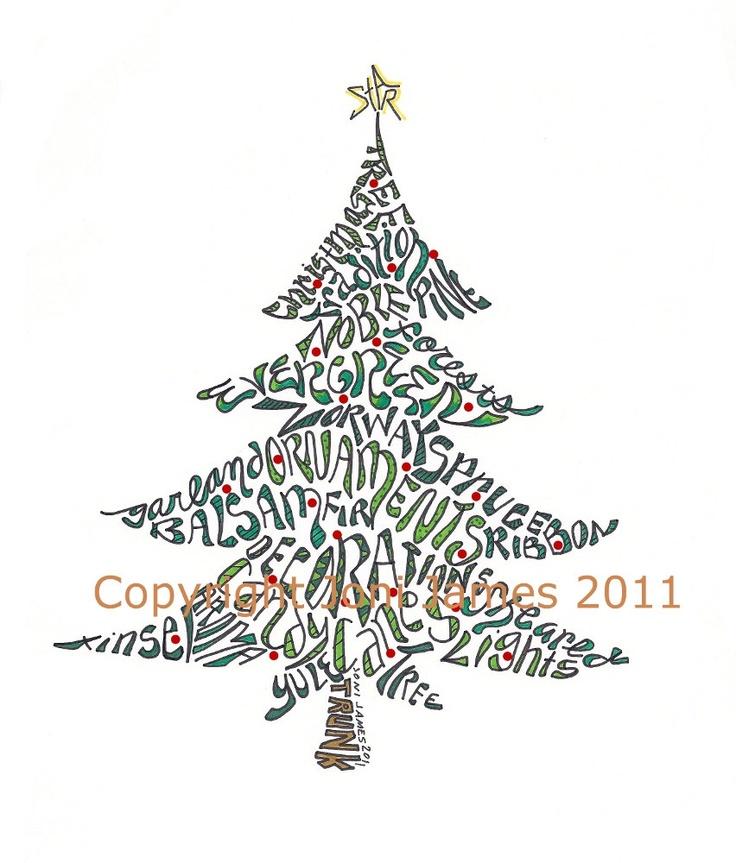 Best calligrams images on pinterest christmas ideas