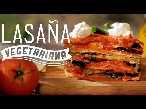 Lasaña vegana de espinacas con champiñonnes - YouTube