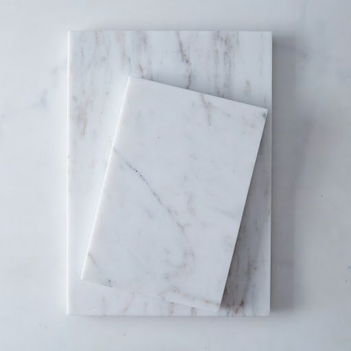 Have some made from trim of Marble Slab.....Great idea! Sizes: Small: 11.25 L x 7.75 W x .75 H; Large: 15.75 L x 11.25 W x .75 H