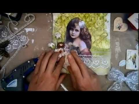 Wild Orhcid Crafts DT project Altered Canvas tutorial - YouTube