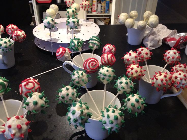 Cake pops been made