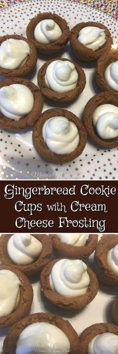 Gingerbread Cookie Cups with Cream Cheese Frosting