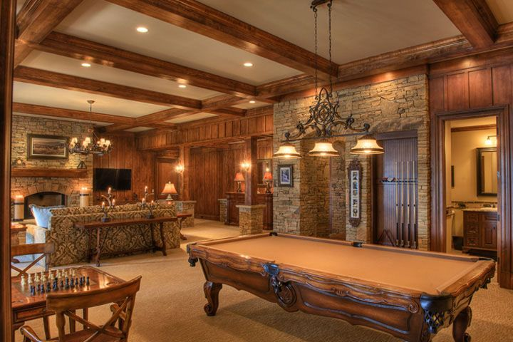 Not really what I had in mind for a game room...but I love this layout & room!!!