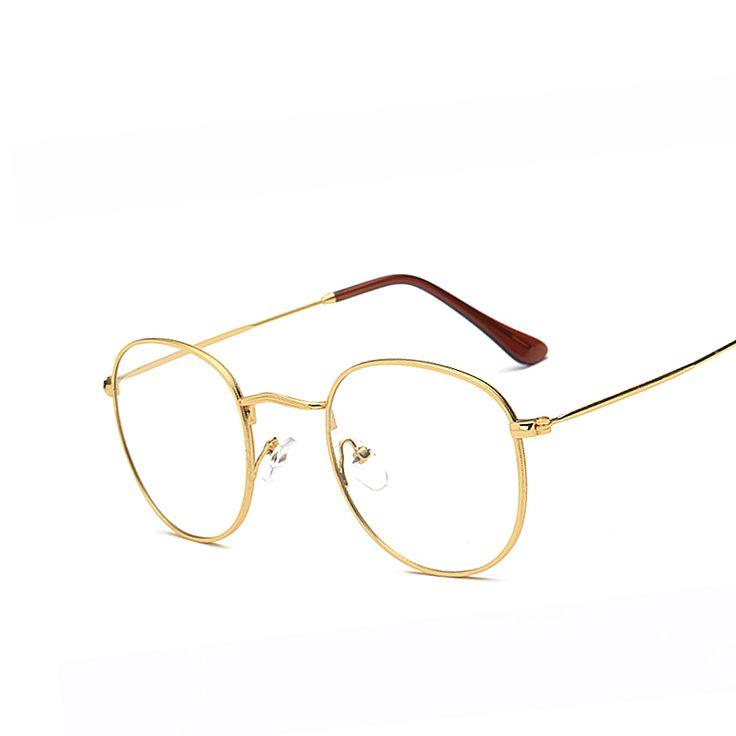 Retro Eyeglasses Frames Men Big Metal Glass Frame Women Luxury Unisex Optical Clear Glasses Frame High Quality Eyewear oculos