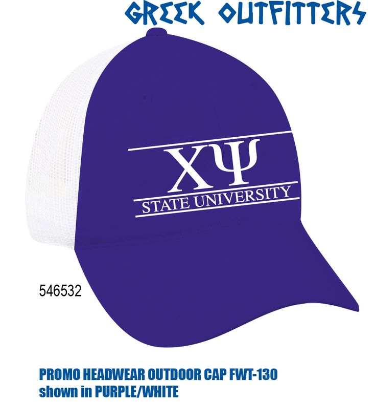 Greek Outfitters Chi Psi Promo Headwear Outdoor Cap #grafcow