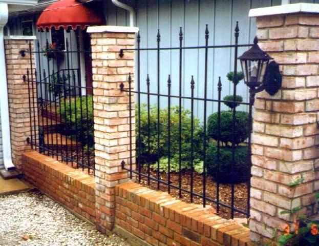 46 Best Fences Images On Pinterest Brick Fence Bricks
