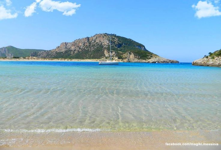 Golden beach, Gialova Pylos in Messinia Peloponnese - GREECE