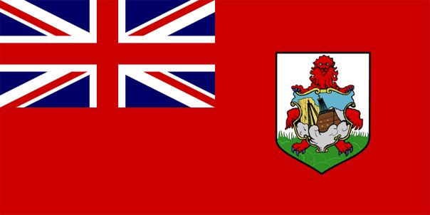 The current Bermuda flag was adopted in the 1960s.           As a British overseas territory, Bermuda's flag features the United Kingdom flag upper left. The green and white badge displays a red lion holding a shield that symbolizes the sinking of the Sea Venture about one mile off the coastline of Bermuda in the summer of 1609. The ship was caught in a hurricane, and subsequently struck a reef.