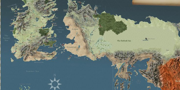 Browse Westeros to your heart's desire!  This interactive Game Of Thrones map has everything