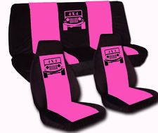 pink seat covers for jeep wrangler | Front and Rear Seat Covers for 1997-2002 Jeep Wrangler TJ