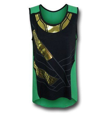 Perfect for those fan girls, Loki Foil Costume Tank Top -