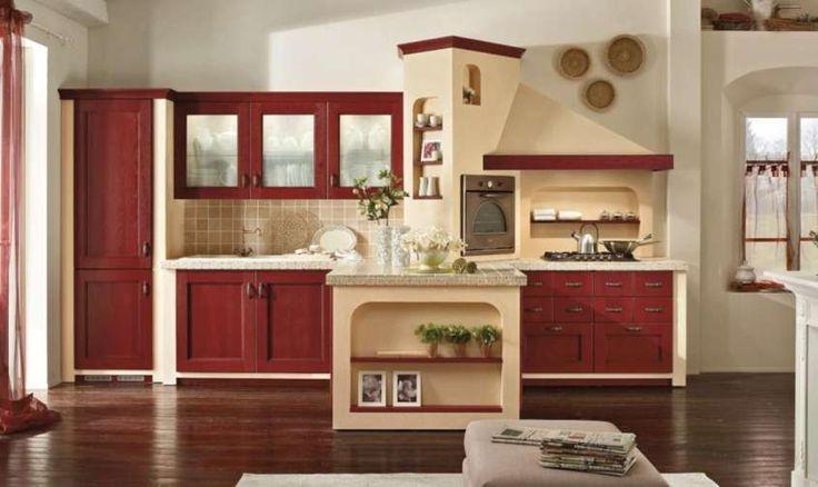 Le cucine in muratura - Una cucina accogliente