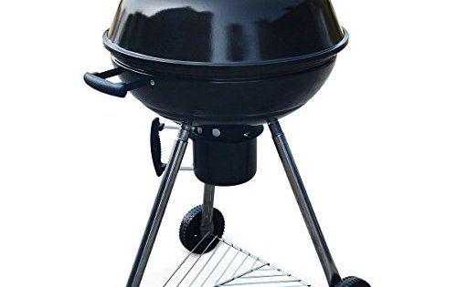 Alice's Garden – Barbecue charbon de bois Ø57cm – Georges noir émaillé – Barbecue avec aérateurs, émaillé, fumoir, récupérateur de cendres:…