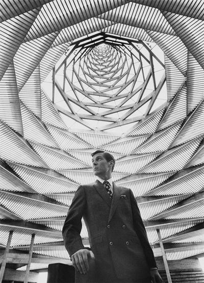 A GQ editorial, photographed at the Expo 67 in Montreal, Quebec, Canada.