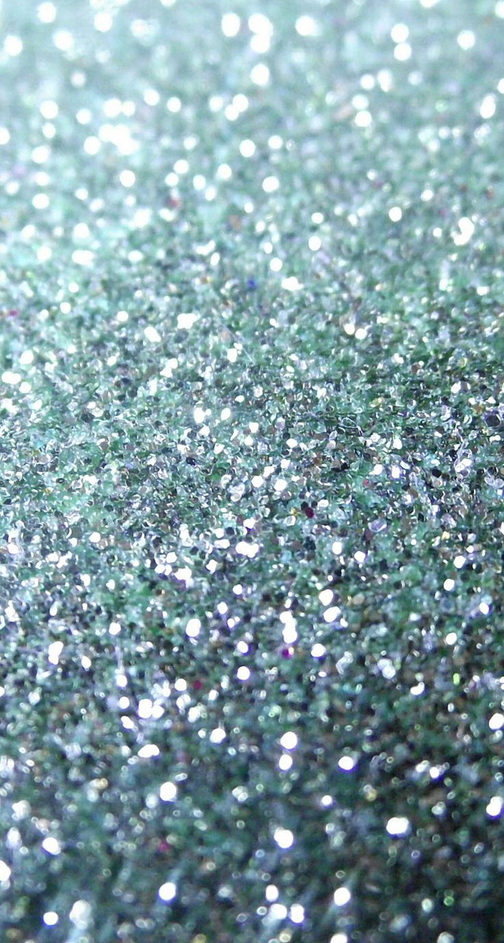 blue green and silver sparkles iPhone wallpaper