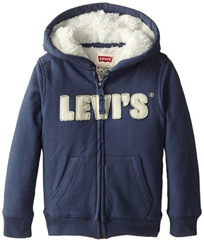 Levi's Little Boys' Styx Zip Hoodie, Vintage Blue, 6