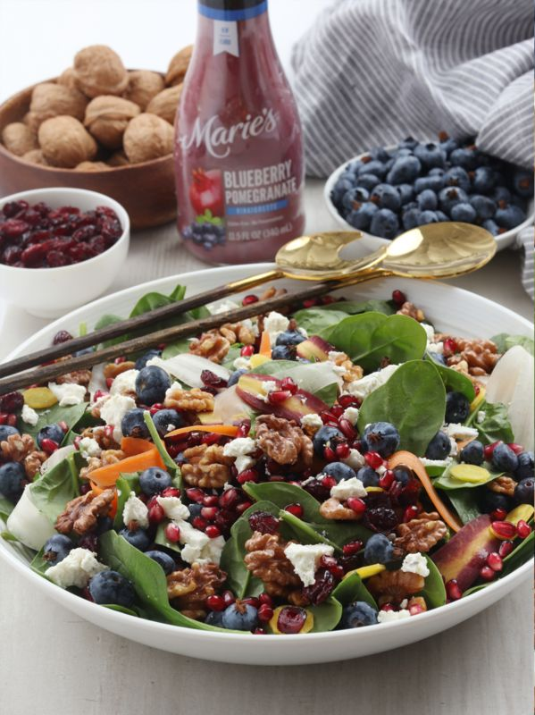 Blueberries, Walnuts and Feta Cheese Come Together to Make One Magical Salad